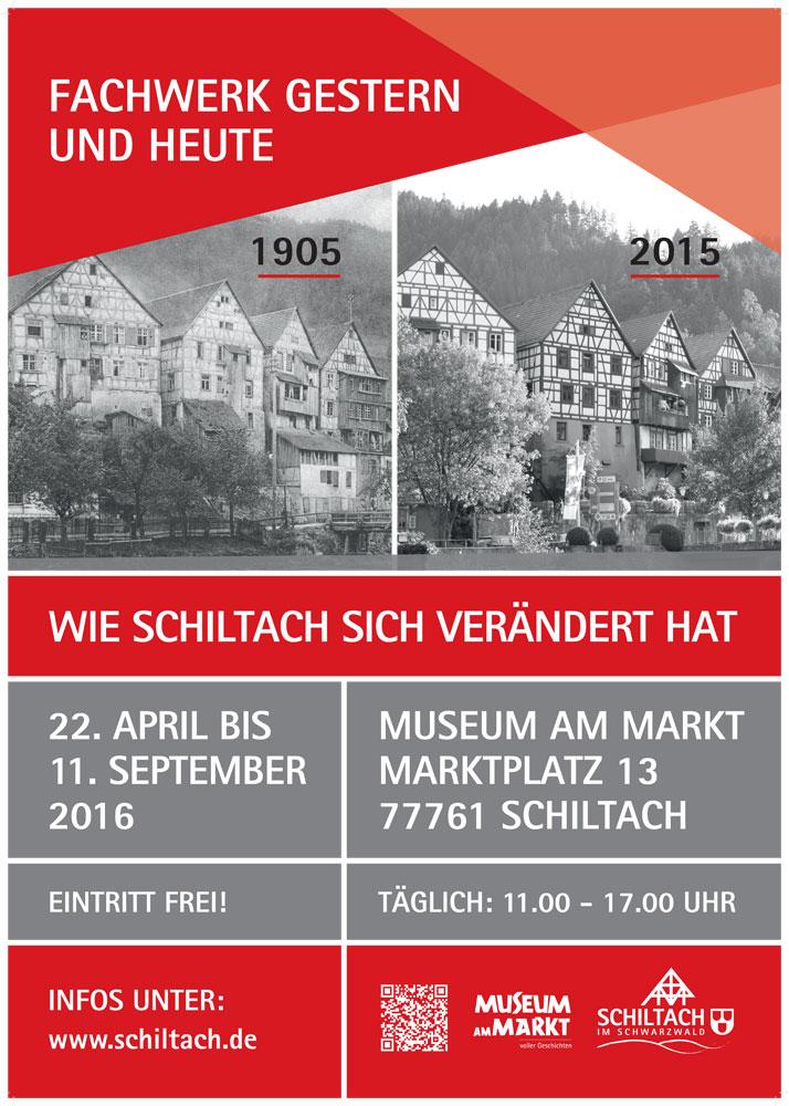 Plakat Schiltach Fachwerk gestern und heute
