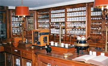 Blick in das Apothekenmuseum