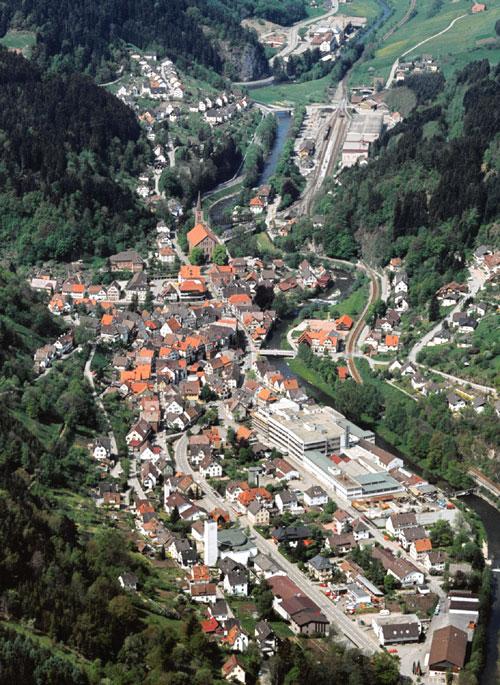 Luftbild Stadt Schiltach