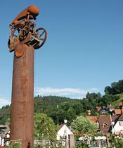 Kunstwerk an der Häberlesbrücke