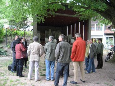 Gemeinderäte besichtigen die Konzertmuschel