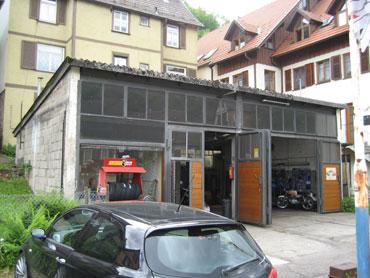 Die ehemalige Tankstelle Heinzelmann