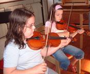 Musikschule-Violinspielerin