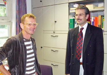 Karl Haberer und Bürgermeister Thomas Haas