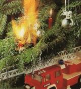 Ein brennender Weihnachtsbaum