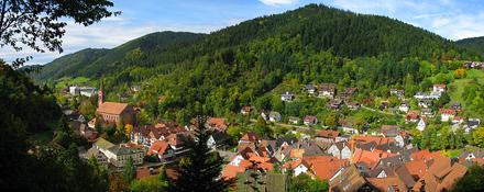 Panormablick auf Schiltach
