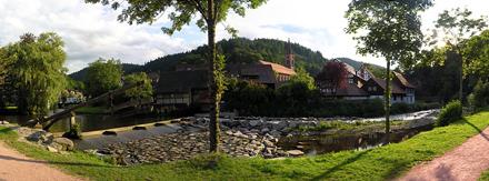 Panoramablick auf die Schiltach