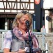 Chrsitiane Trautwein vom Gewerbeverein dankte den Bauern für ihren Einsatz um die Erhaltung der Kulturlandschaft