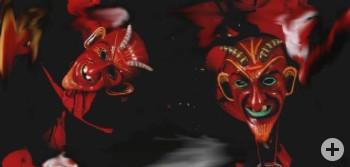 schaurig schöne Teufelsmasken