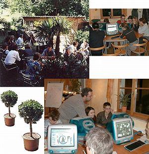 gemütliches Ambiente im Internetcafé/-garten