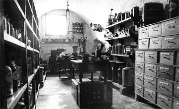 Historische Aufnahme des Apothekenmuseums