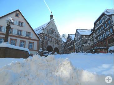 Winter-Marktplatz