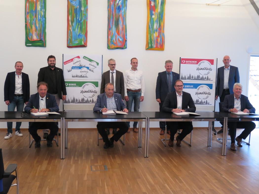 Unterzeichnung der Vereinbarung