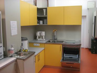 Die neue Küche in der Sporthalle