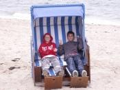 Hauptschüler im Strandkorb