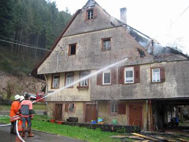 Feuerwehreinsatz am Unterkaibach Hof