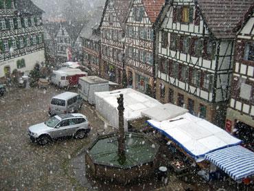 Josefsmarkt im Schnee
