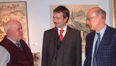 Hans Harter, Bürgermeister Thomas Haas und Dr. Hans Harter (Freiburg)