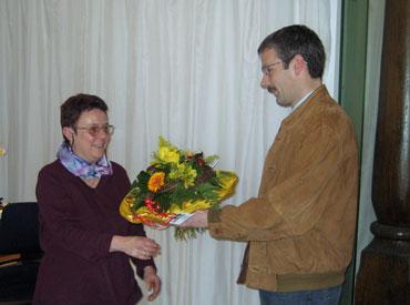 Sigrid Wein und Bürgermeister Haas