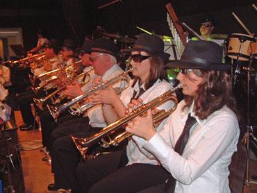 Trompetenregister der Stadtkapelle