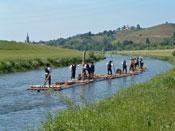 Das Schiltacher Floß vor Gengenbach