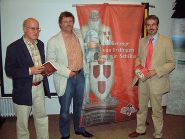 Hans Harter, Jakob Wolber und Bürgermeister Thomas Haas
