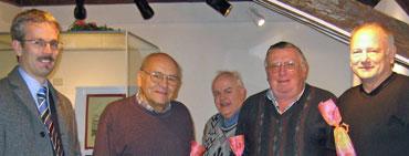 Bürgermeister Haas, Helmut Schneider, Hans Harter, Hans Gaiser und Klaus Neeb