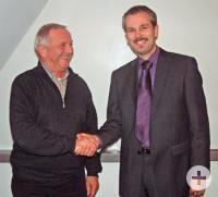 Gerhard Blust (links) und Bürgermeister Thomas Haas
