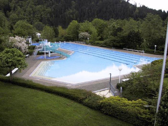 Luftbild vom Freibad