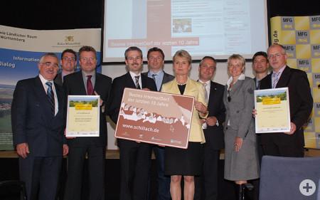 Gruppenfoto Preisverleihung Internetdorf 2009