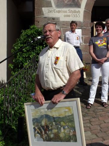 Frank Gössel beim Stadtfest 2010 in Schiltach