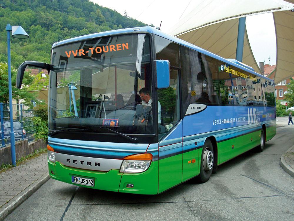 VVR-Bus im BusbahnhofSchramberg