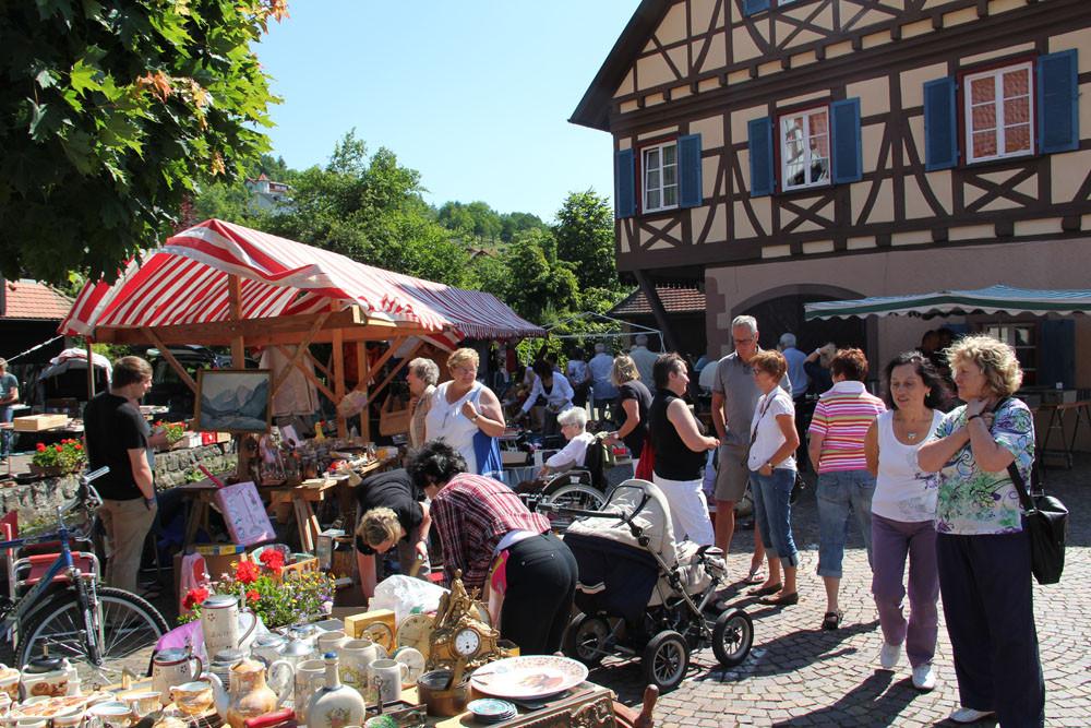 Oft gelobtes Ambiente, viele sprechen vom schönsten Flohmarkt im Schwarzwald