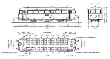 Schienenbus Ausmaße